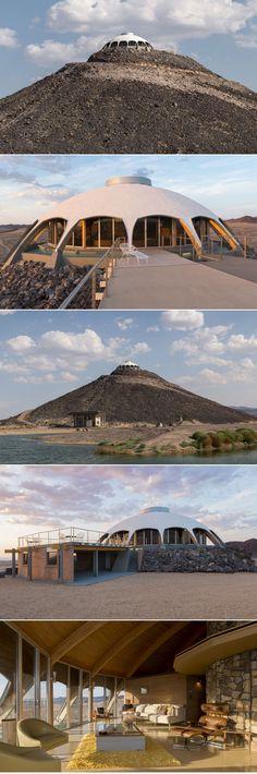 The Volcano House in the Mojave Desert
