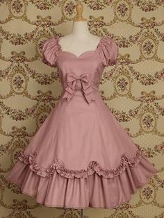 Light Pink Cotton Classic Lolita Dress