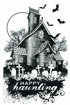 #1163 Hot of the Press Small Stamps clear stamp halloween
