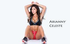 Arianny Celeste Sexy UFC ring girl in sports bra - wallpaper