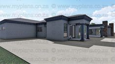 4 Bedroom House Plan - My Building Plans South Africa 4 Bedroom House Plans, Family House Plans, My Building, Building Plans, Single Storey House Plans, House Plans South Africa, Free House Plans, Flat Roof House, Beautiful House Plans