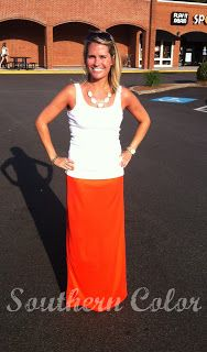 Southern Color: DIY Maxi Skirt