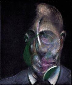 """Francis Bacon, """"Portrait of Michel Leiris"""", 1976, Huile sur toile, 34 x 29 cm, Centre Pompidou, Paris."""