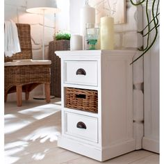 Discover the best coastal bedroom furniture sets for a beach home. Browse beach bedroom furniture sets like beds, headboards, dressers, and nightstands. Oak Bedroom Furniture, Painted Furniture, Home Furniture, Cottage Furniture, Furniture Shopping, Coastal Furniture, 3 Drawer Bedside Table, Bedside Tables, Beach Bedroom Decor