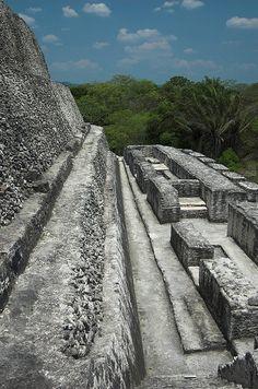 Xunantunich Mayan ruins, Belize - Temple detail