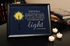 The perfect cross stitch design for any Harry Potter fan! Dumbledores quote, from The Prisoner of Azkaban, is a great reminder to anyone going