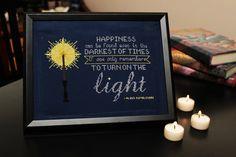 Dumbledore Turn On The Light Cross Stitch by PopGoesTheNeedle