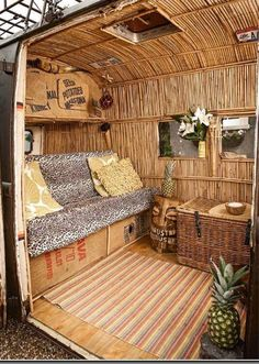 VW Van for Asia fans - travel in style with a bamboo interior...  #Boracay