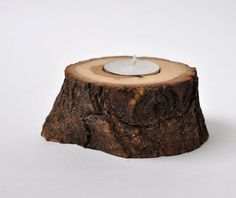 Natural OAK Candle Holder by WoodsOfNarnia on Etsy, $9.00