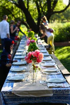 Dinner party on a farm.