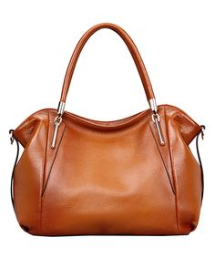 Love this Brown Amedea Leather Hobo by Vicenzo Leather on #zulily! #zulilyfinds