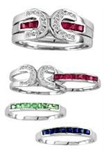 <3 THIS! Kelly Herd Interchangeable Horseshoe Ring