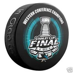 a san jose sharks 2016 western conference champions souvenir hockey puck nhl
