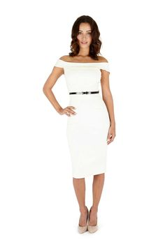 Bardot Cream Pencil Dress
