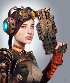 ArtStation - Steampunk girl, Carlos Alberto