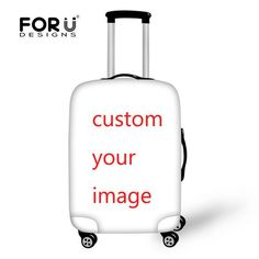 Personalized Travel Luggage Protector Washable Suitcase Cover Sun and Sea