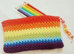 Diaper Mum : Crochet Pencil Cases