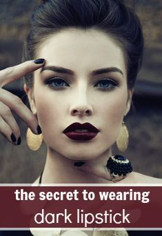 how to wear dark lipstick and tricks to apply it  https://www.facebook.com/makeupmania4u?ref=br_rs