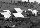 Most of the Mexicans lived in temporary camps, which consisted of one-room wood dormitories or tents. The physical design of the mobile/temporary camps allowed them to be set up each season on unoccupied land at strategic agricultural sites, then later dismantled and stored during the winter. Not only were the camps mobile, they were also flexible in size so that anywhere from 100 to 800 men could be accommodated at any one time.