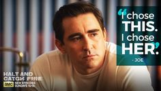 HaltAMC: Can Joe live with his choice? Watch #HaltAndCatchFire this Sunday at 10|9c.