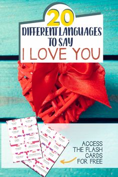 "This set of free flashcards of ""I Love You"" in 20 different languages will help children learning how to express their love with words while learning different languages. #Valentine #Flashcards #ILoveYou #ValentineActivity"