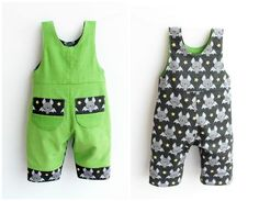 ❀★ Lil' CRITTERS for Kids!! It's the most cheeky Romper sewing pattern for Boys and Girls 0 up to 6 years old. Lil' CRITTERS Romper is fully lined and REVERSIBLE!! ★❀ It is very EASY to sew and to wear. There is also an innovative technique of romper lining that you can learn! It is sewn without facing at sides, but the waist has the right width to accommodate shirts. The inseam opening with poppers allows fast change of diapers. Beautiful playful pockets with bold details are on the bib…