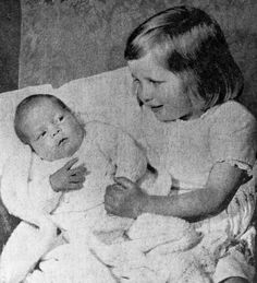1964 - With newborn brother Charles in May