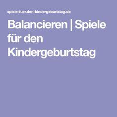 Balancieren | Spiele für den Kindergeburtstag