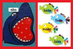 Word Family Sharks for Ocean Unit