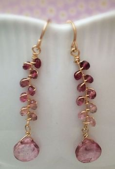Wire Wrapped Earrings by Olive Oyl