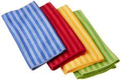 Amazon.com - DII Microfiber Dish Towel, Primary Stripes, Set of 4 #AmazonCart #DII #DesignImports