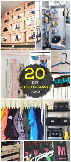 20 DIY Closet Organization Ideas for the Home | DIY Closet Storage Ideas for Small Spaces