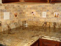 slate backsplash in kitchen | Kitchen Backsplash Images
