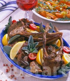 Lajos Mari konyhája - Citromos-zsályás bárányborda Finger, Cooking Recipes, Beef, Foods, Dishes, Drinks, Meat, Food Food, Food Items