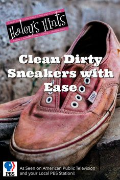 Clean Dirty Sneakers with Ease. Athletic shoes are expensive, learn how to clean dirt and stains from your expensive sneakers with just a spray and a wipe!