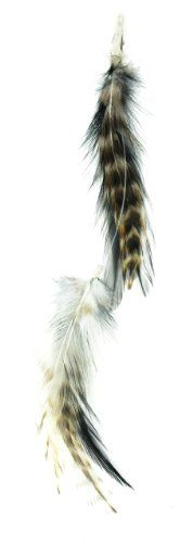 gorgeous Designer Feathers 12744 Feather Hair Extension, 6-Piece, White Hackle,
