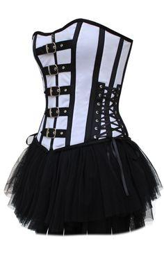 Gothic corset & skirt set