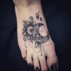 Image result for henna mandala foot tattoo