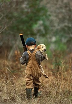 Big Sky Journal - A young hunter and lab puppy head afield ... just like Dad.