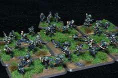 Falshrimjager Plt for Flames of War. Painted by Panzer Schule for Worlds at War.