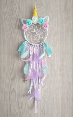 Attrape-rêves ~ Dream catcher ~ Licorne ~ Unicorn ~ Attrape-rêves Licorne ~ Dream catcher Unicorn ~ Pastel