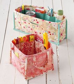Pockets to Go Art Tote | free pattern!