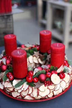 Christmas arrangements 2015 Part II Christmas Advent Wreath, Christmas Candle, Christmas Makes, Noel Christmas, Christmas Is Coming, All Things Christmas, Christmas Crafts, Christmas Decorations, Xmas