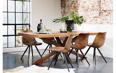 Eetkamerstoel Dott Bruin Leer kopen? | Goossens Home Room Design, House Design, Dining Chairs, Dining Table, Dining Room Colors, Big Houses, House Rooms, Interior And Exterior, New Homes