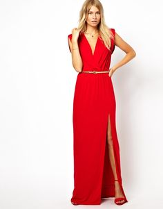 Love Wrap Front Maxi Dress With Thigh Split  $54