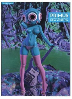 Primus posters by Ron English and Mike Mitchell Tour Posters, Band Posters, Music Posters, Mike Mitchell, Mickey Mouse, Poster Series, Lowbrow Art, Pop Surrealism, Electronic Art