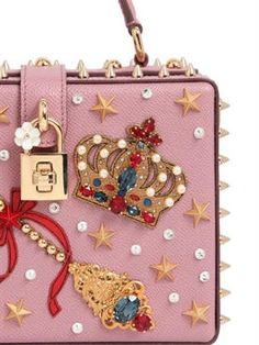 dolce & gabbana - women - top handles - magic wand embellished leather dolce bag