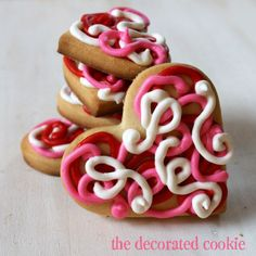 """Valentine's Day """"Chaos"""" Heart Cookies"""