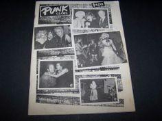Punk Globe Magazine Original Black & White November 1984 Punkzine Ginger Coyote