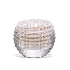 Crystal candle holder votive by Baccarat. Part of the Eye Collection.